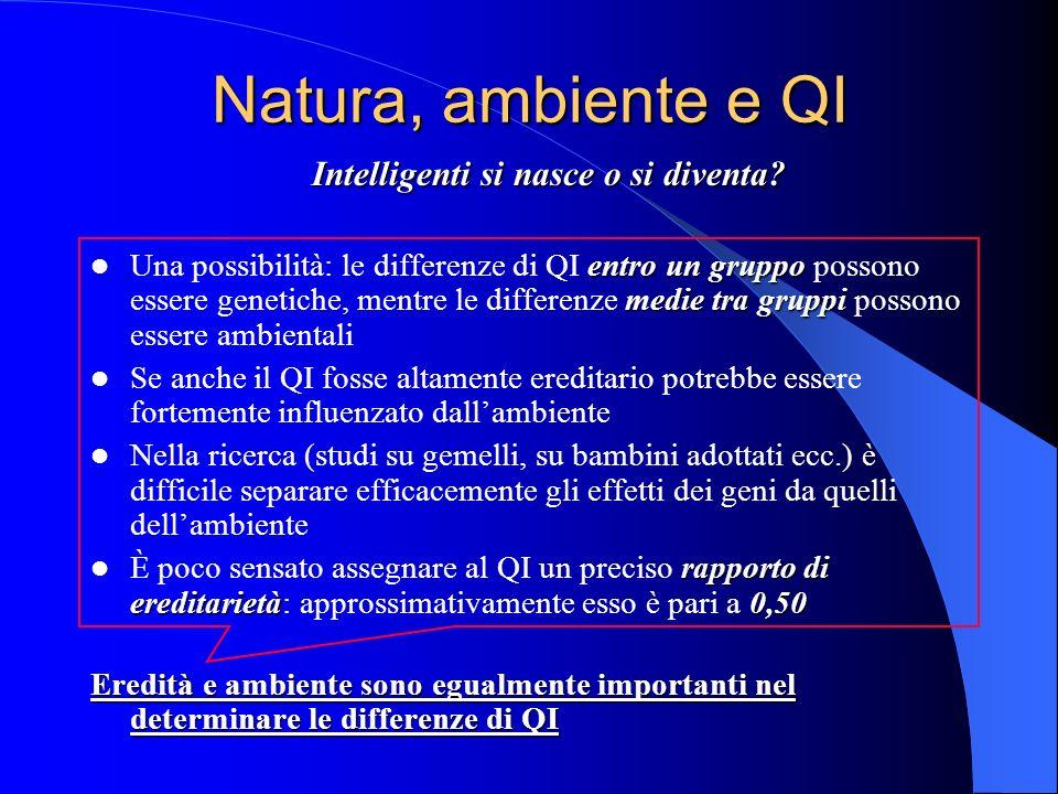 Natura, ambiente e QI Intelligenti si nasce o si diventa.