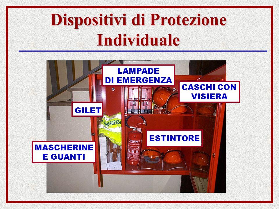 Dispositivi di Protezione Individuale LAMPADE DI EMERGENZA GILET MASCHERINE E GUANTI ESTINTORE CASCHI CON VISIERA