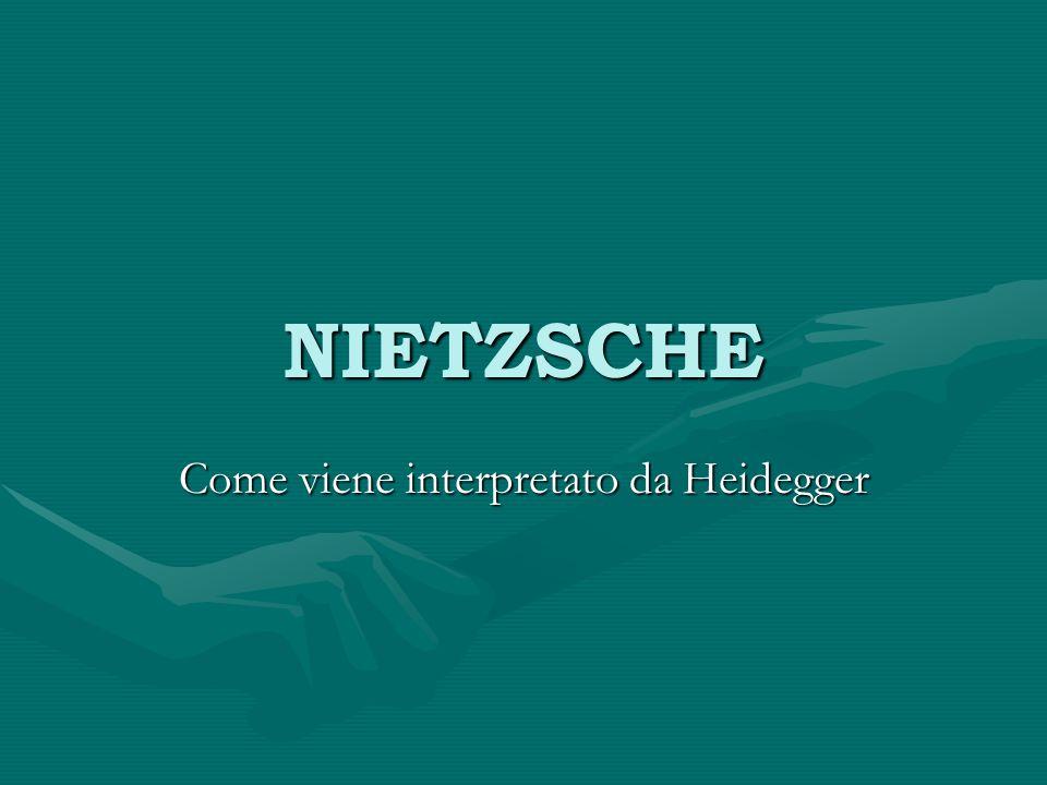 NIETZSCHE Come viene interpretato da Heidegger