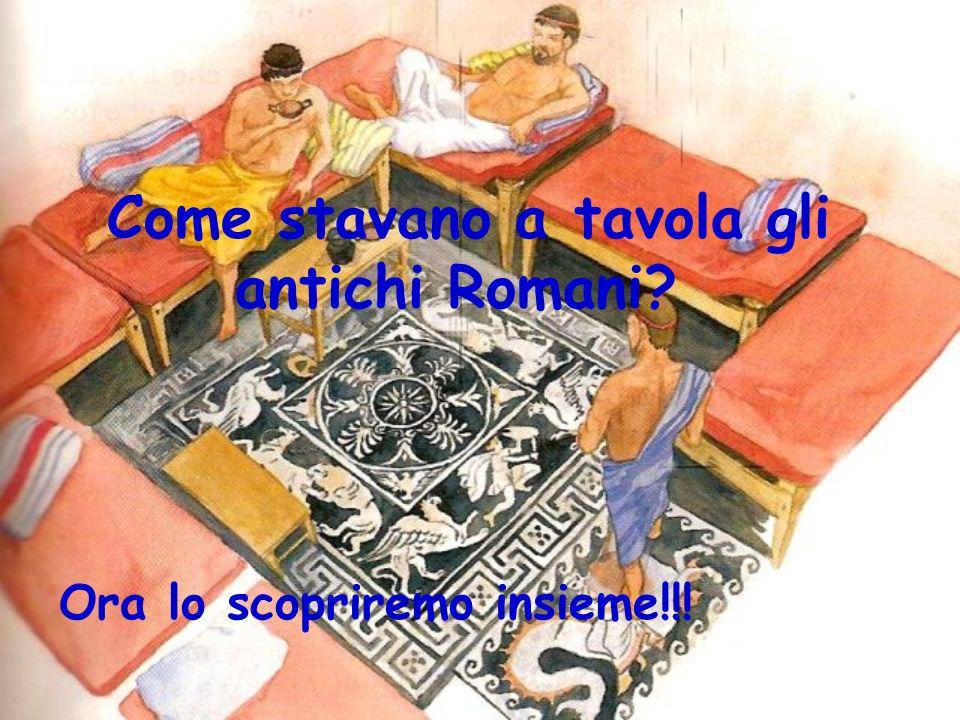 Presentazione In questo video cercheremo di mostrarvi la vita dei romani: in particolare come sedevano a tavola.