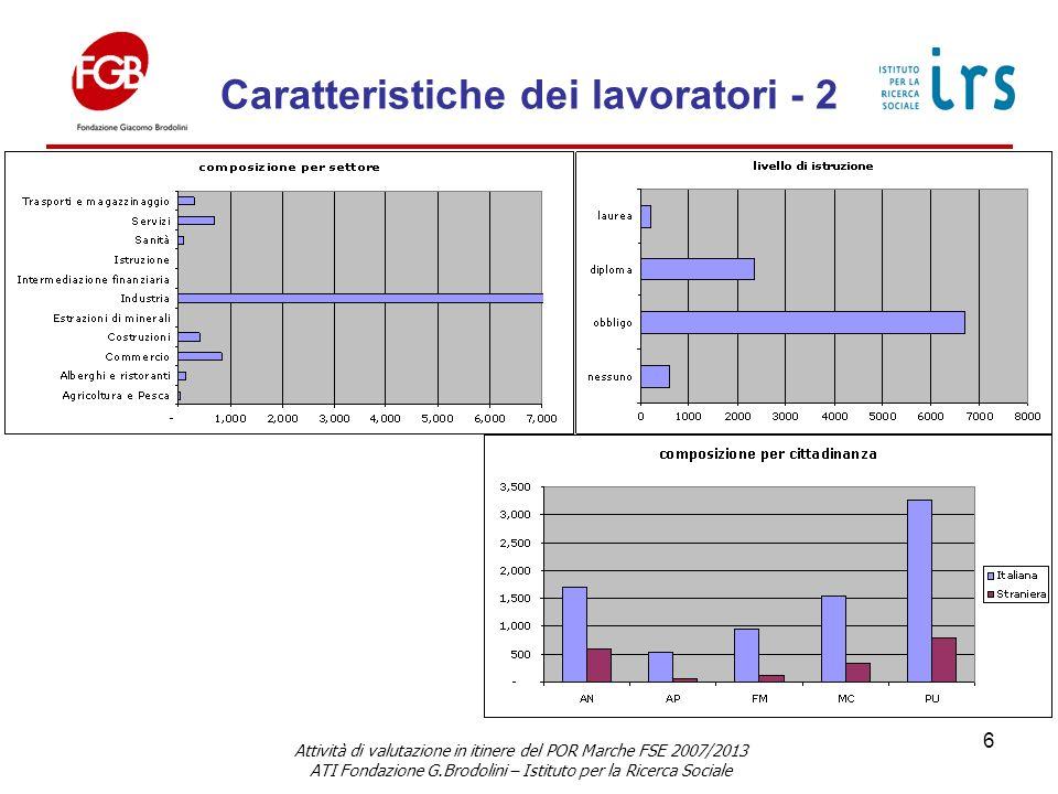 Durata per tipo corso - Statistiche Attività di valutazione in itinere del POR Marche FSE 2007/2013 ATI Fondazione G.Brodolini – Istituto per la Ricerca Sociale 7