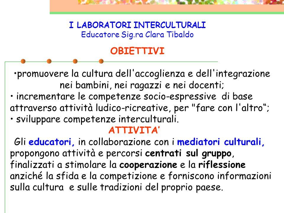 La scuola richiede lintervento (tramite scheda) e propone un progetto dove vengono indicati tempi, e le modalità di utilizzo del mediatore culturale.
