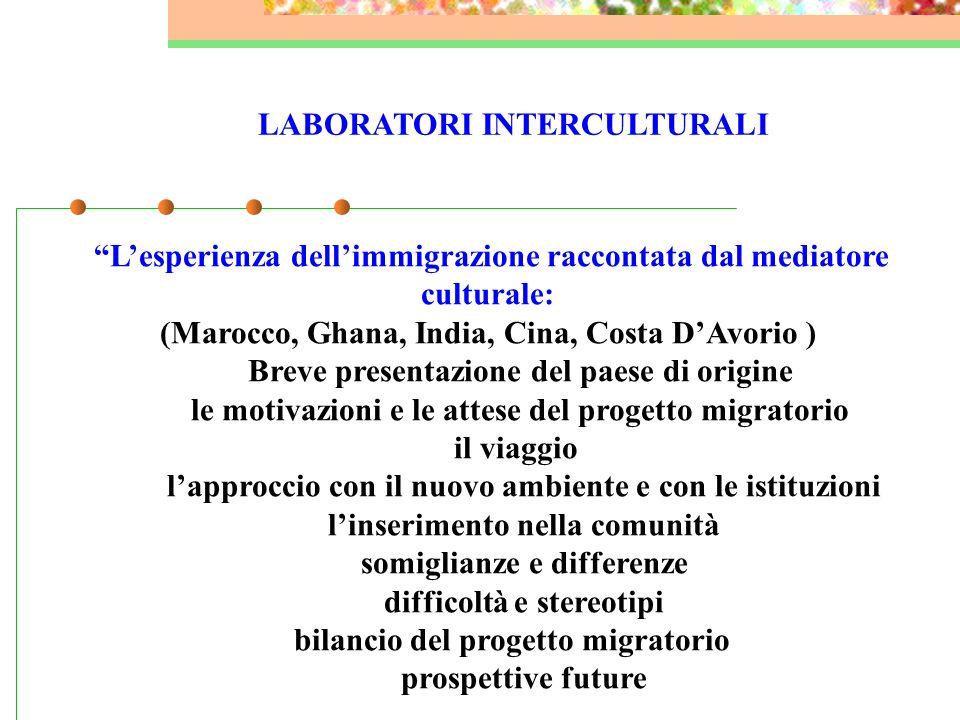 I LABORATORI INTERCULTURALI Educatore Sig.ra Clara Tibaldo OBIETTIVI promuovere la cultura dell'accoglienza e dell'integrazione nei bambini, nei ragaz