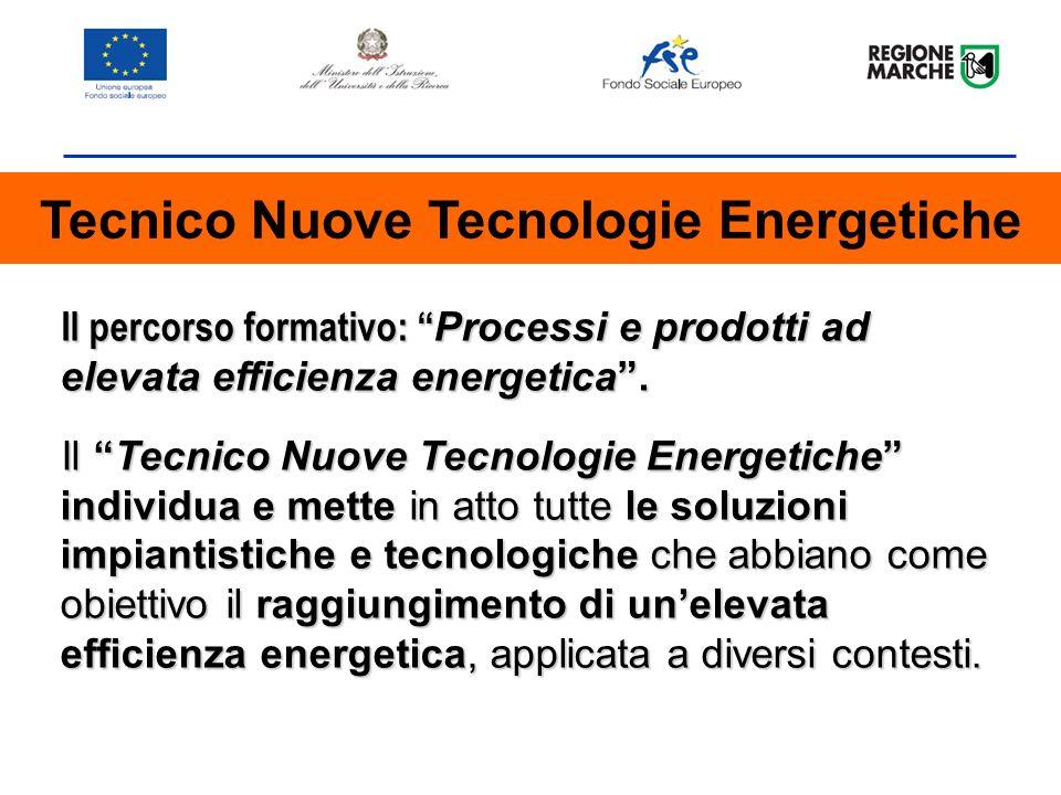 Il percorso formativo: Processi e prodotti ad elevata efficienza energetica.