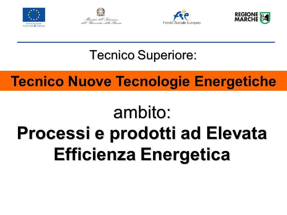 ambito: Processi e prodotti ad Elevata Efficienza Energetica Tecnico Superiore: Tecnico Nuove Tecnologie Energetiche