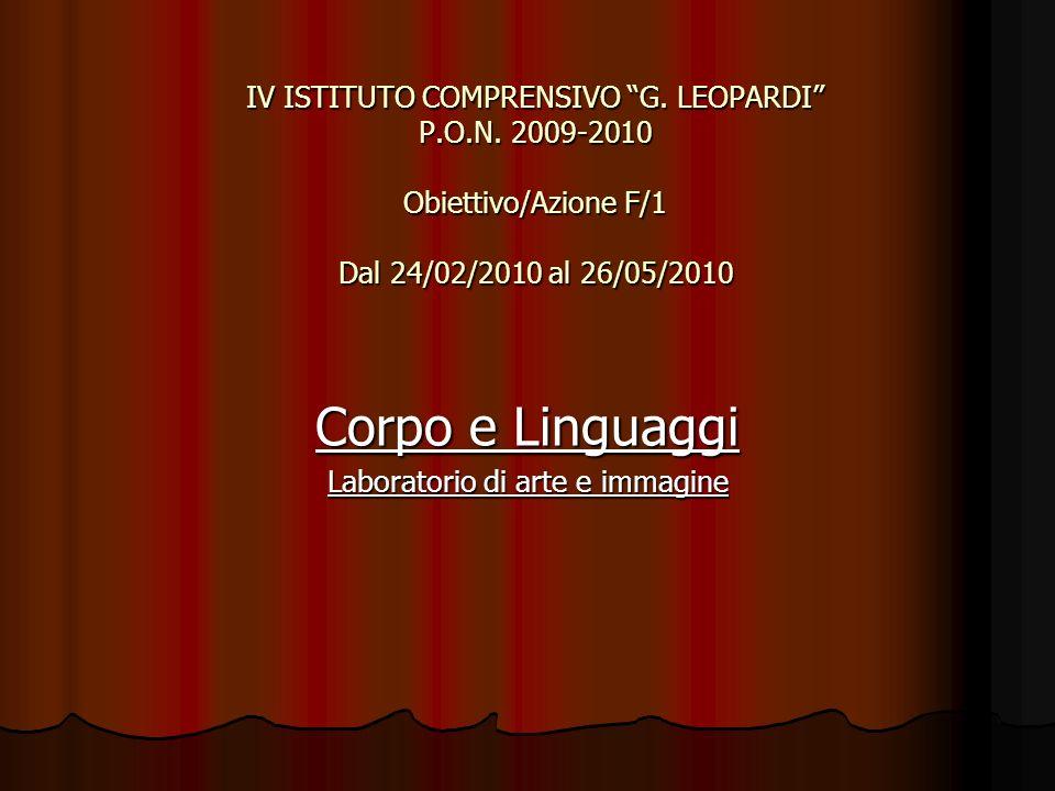 IV ISTITUTO COMPRENSIVO G. LEOPARDI P.O.N.
