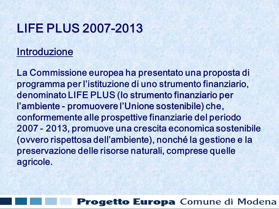 Introduzione lo strumento finanziario per lambiente - promuovere lUnione sostenibile La Commissione europea ha presentato una proposta di programma pe