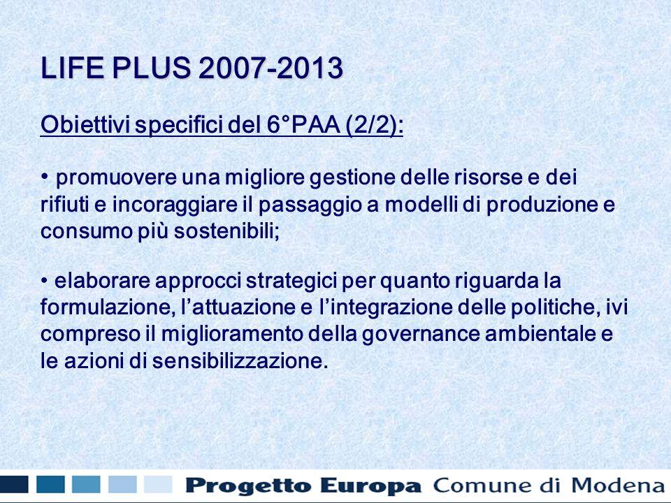 Obiettivi specifici del 6°PAA (2/2): promuovere una migliore gestione delle risorse e dei rifiuti e incoraggiare il passaggio a modelli di produzione
