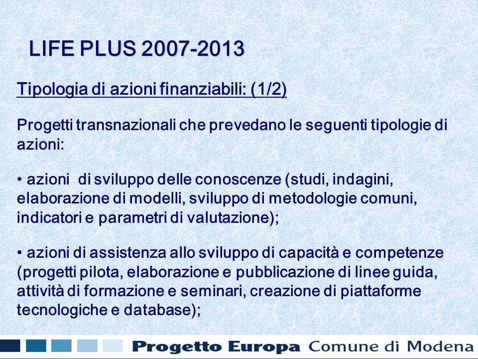 Tipologia di azioni finanziabili: (1/2) Progetti transnazionali che prevedano le seguenti tipologie di azioni: azioni di sviluppo delle conoscenze (st