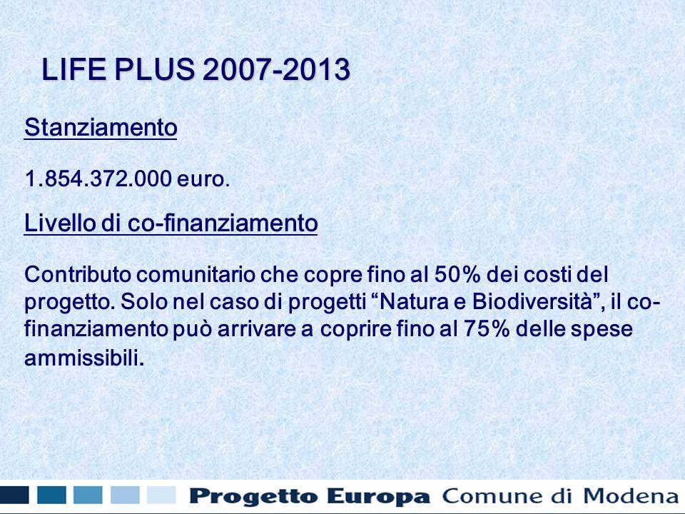 Stanziamento 1.854.372.000 euro.