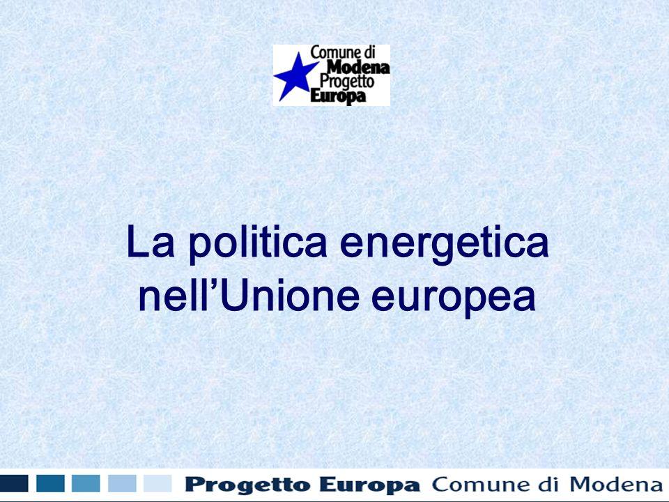 La politica energetica nellUnione europea