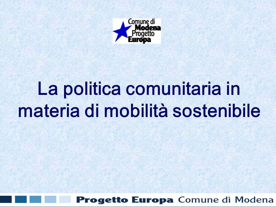 La politica comunitaria in materia di mobilità sostenibile