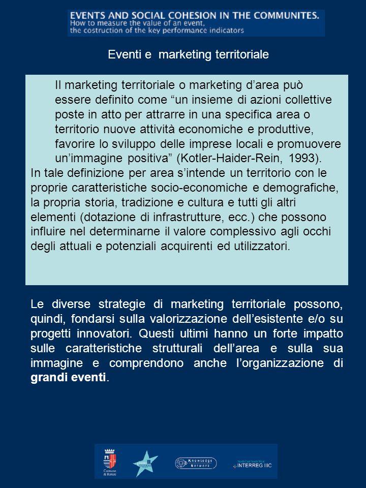 Il marketing territoriale o marketing darea può essere definito come un insieme di azioni collettive poste in atto per attrarre in una specifica area