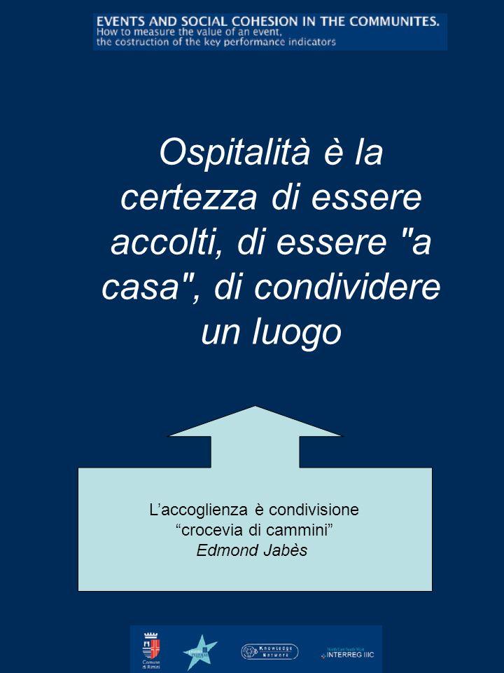 Ospitalità è la certezza di essere accolti, di essere