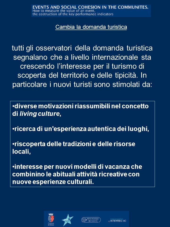 Cambia la domanda turistica tutti gli osservatori della domanda turistica segnalano che a livello internazionale sta crescendo linteresse per il turis