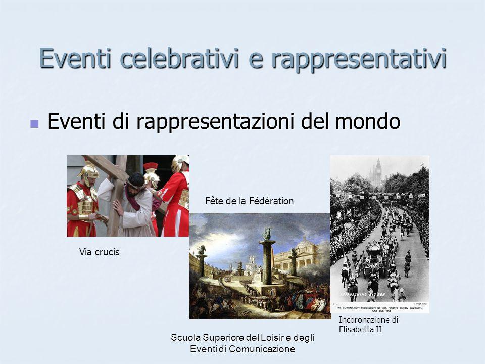 Scuola Superiore del Loisir e degli Eventi di Comunicazione Eventi celebrativi e rappresentativi Eventi di rappresentazioni del mondo Eventi di rappre
