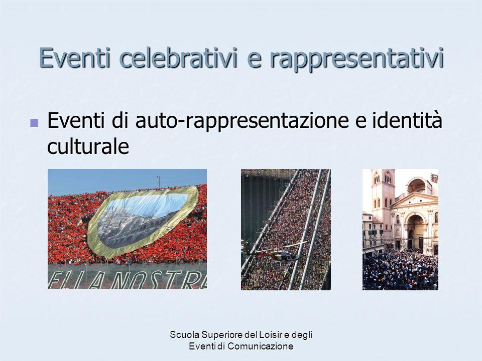 Scuola Superiore del Loisir e degli Eventi di Comunicazione Eventi celebrativi e rappresentativi Eventi di auto-rappresentazione e identità culturale