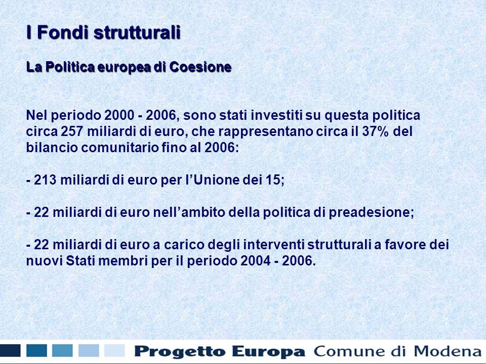 Obiettivo 3 Non fa riferimento ad aree specifiche dellUnione europea, ma è un obiettivo trasversale.