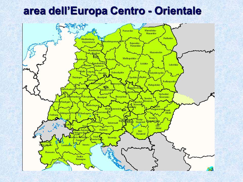 area dellEuropa Centro - Orientale