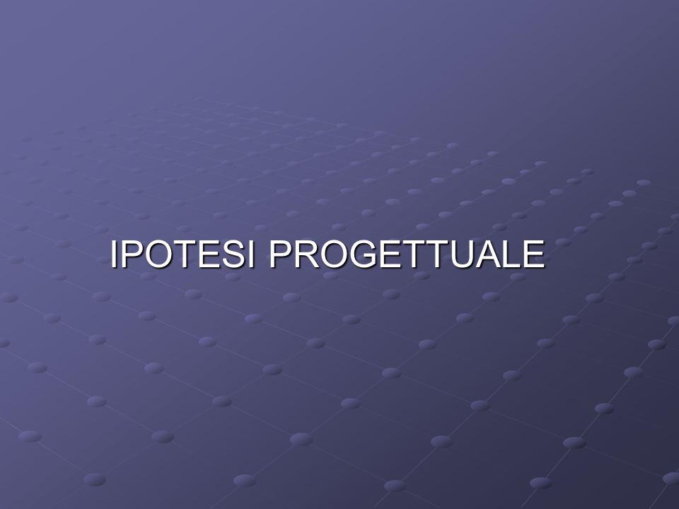 IPOTESI PROGETTUALE
