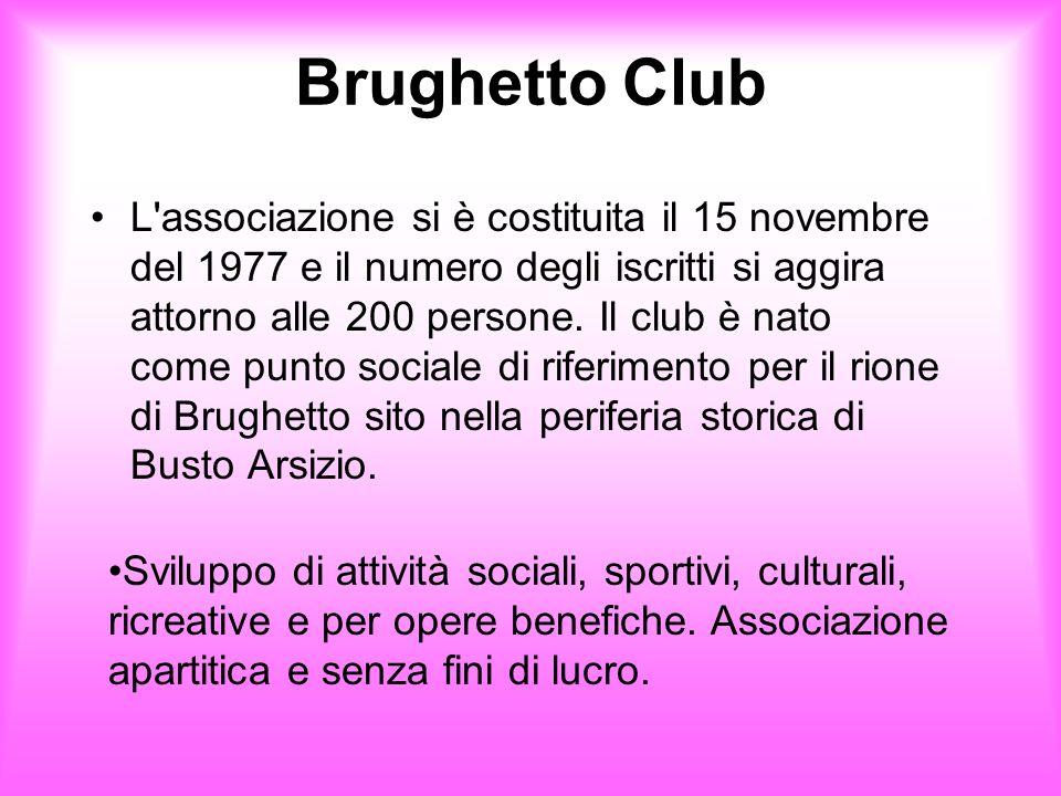 Brughetto Club L'associazione si è costituita il 15 novembre del 1977 e il numero degli iscritti si aggira attorno alle 200 persone. Il club è nato co