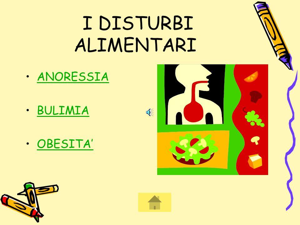 I DISTURBI ALIMENTARI ANORESSIA BULIMIA OBESITA