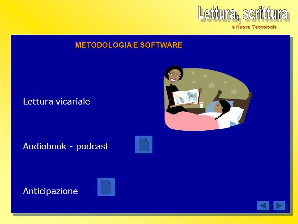 e Nuove Tecnologie Lettura vicariale Audiobook - podcast Anticipazione METODOLOGIA E SOFTWARE