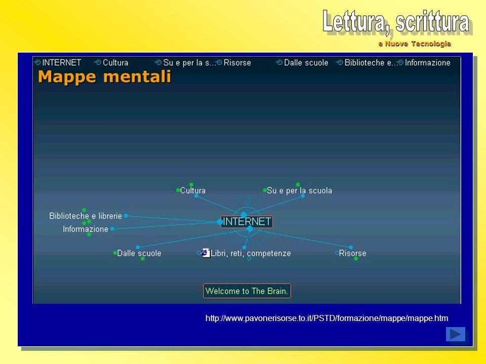 e Nuove Tecnologie Mappe mentali http://www.pavonerisorse.to.it/PSTD/formazione/mappe/mappe.htm