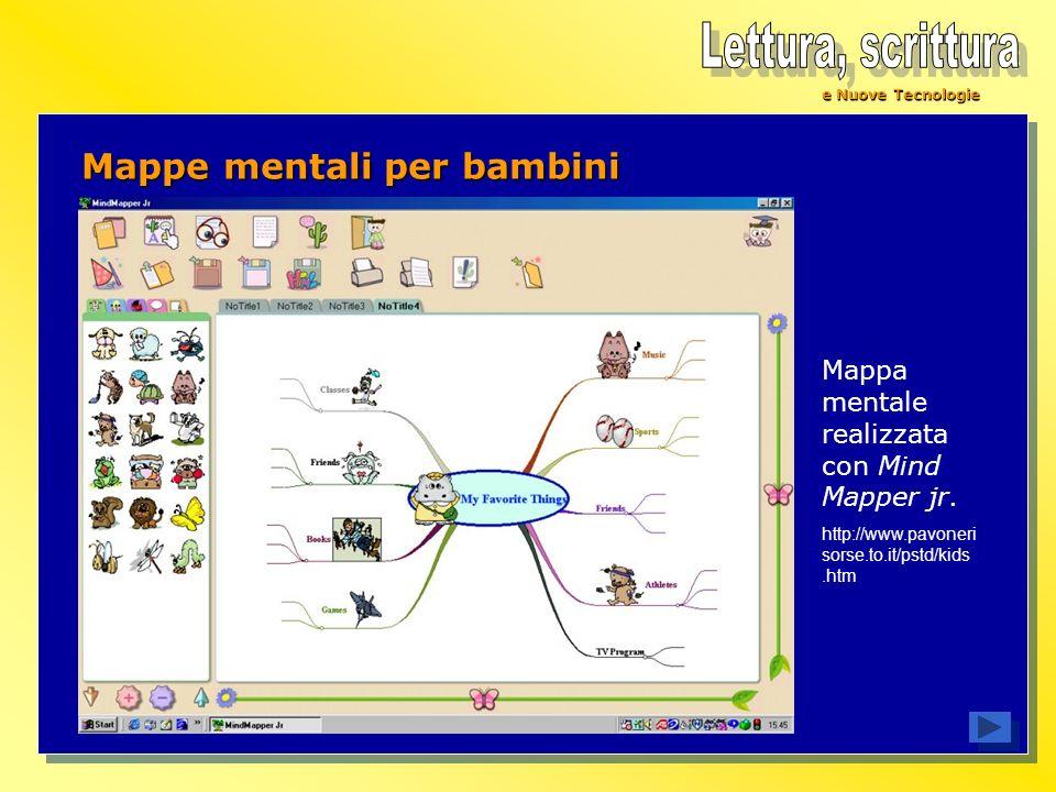 e Nuove Tecnologie Mappa mentale realizzata con Mind Mapper jr. http://www.pavoneri sorse.to.it/pstd/kids.htm Mappe mentali per bambini