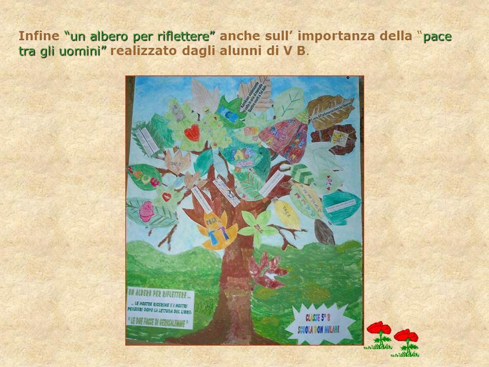 Infine un albero per riflettere anche sull importanza della pace tra gli uomini realizzato dagli alunni di V B.