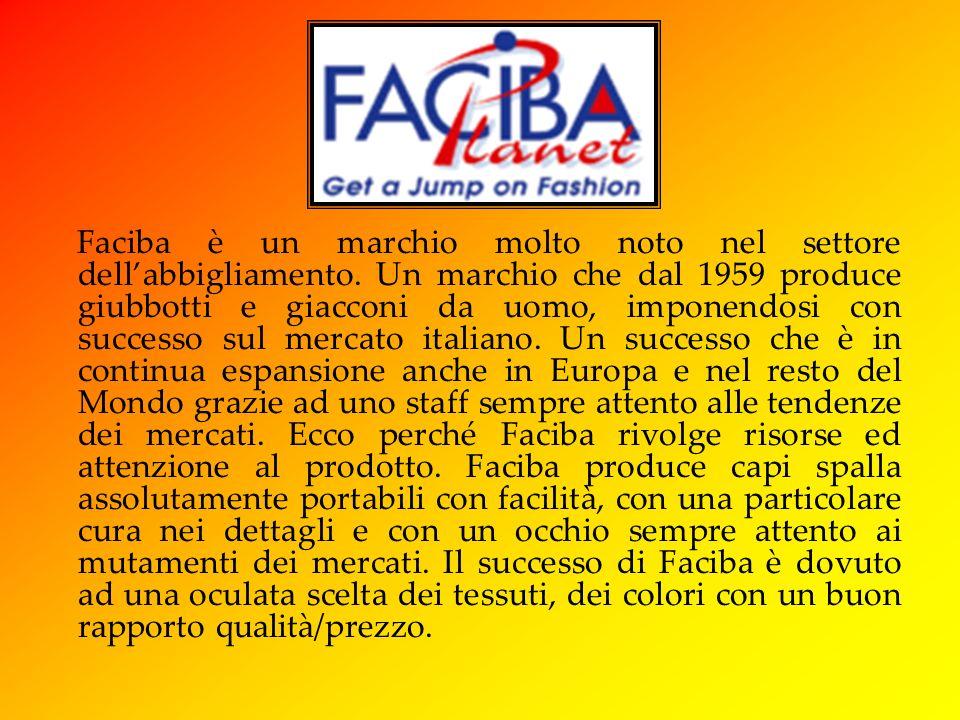 Faciba è un marchio molto noto nel settore dellabbigliamento.