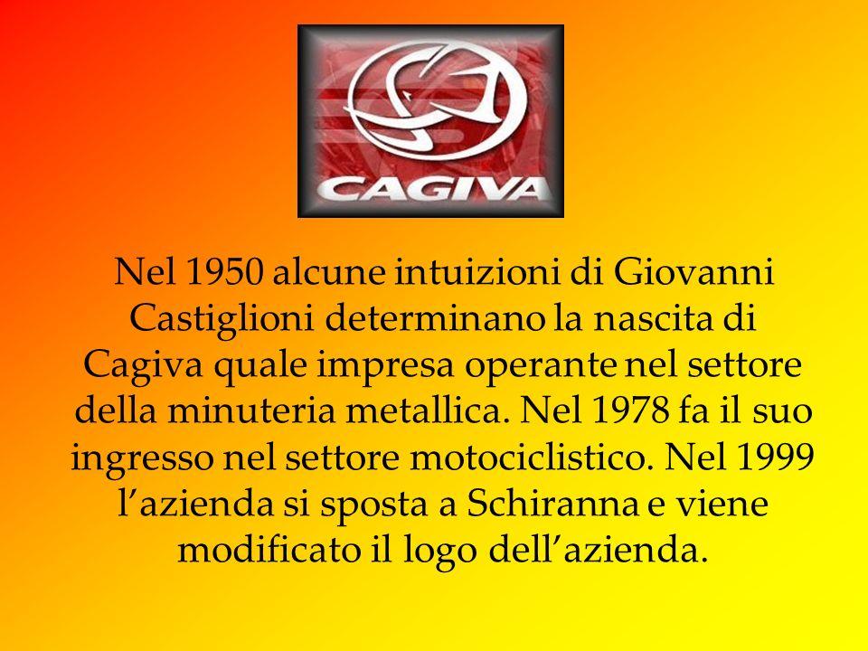 Nel 1950 alcune intuizioni di Giovanni Castiglioni determinano la nascita di Cagiva quale impresa operante nel settore della minuteria metallica.