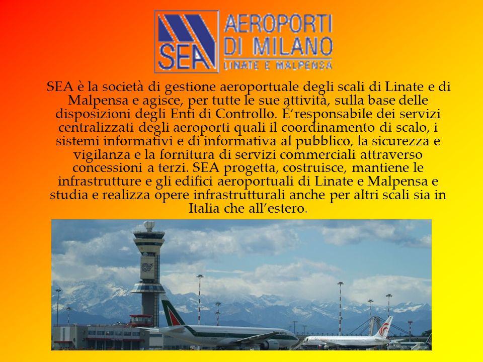 SEA è la società di gestione aeroportuale degli scali di Linate e di Malpensa e agisce, per tutte le sue attività, sulla base delle disposizioni degli Enti di Controllo.