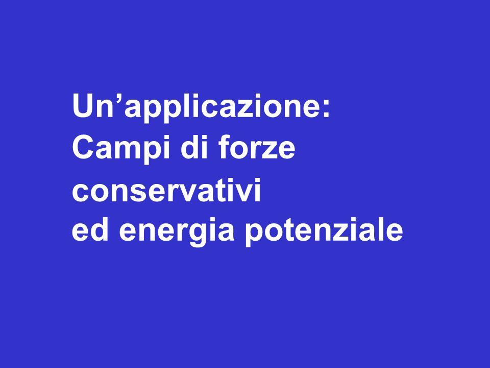 Unapplicazione: Campi di forze conservativi ed energia potenziale