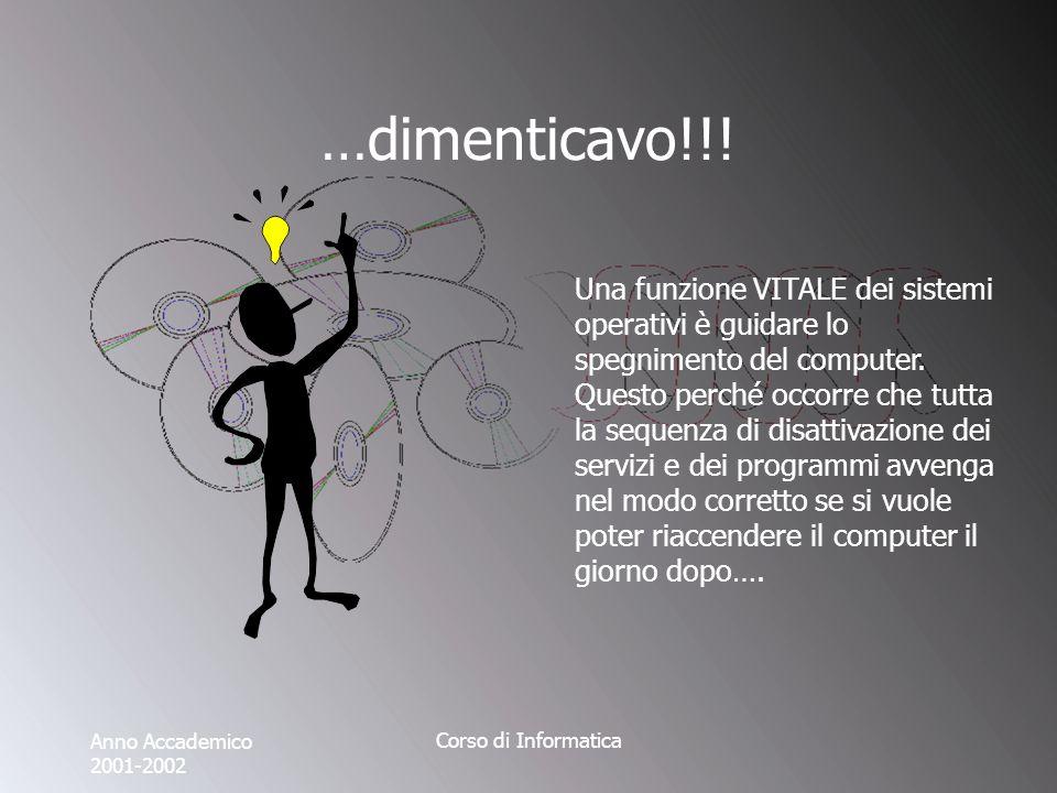 Anno Accademico 2001-2002 Corso di Informatica …dimenticavo!!.