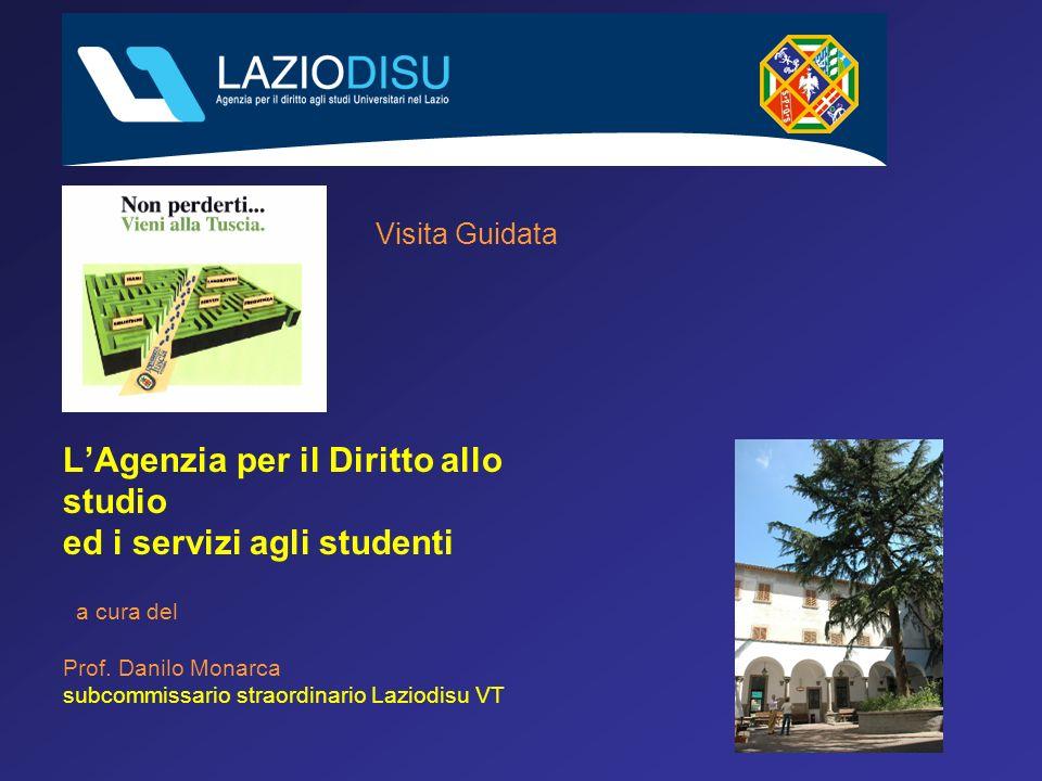 Visita Guidata LAgenzia per il Diritto allo studio ed i servizi agli studenti a cura del Prof.
