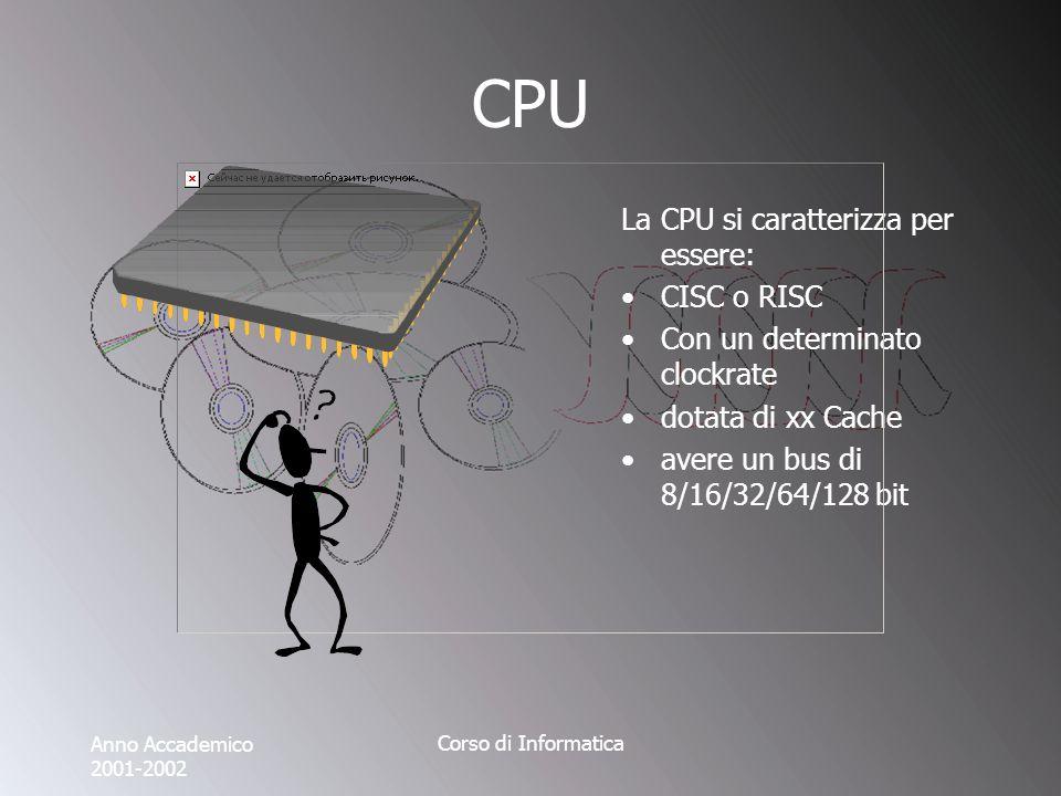 Anno Accademico 2001-2002 Corso di Informatica Porta Seriale E la porta deputata alla comunicazione verso lesterno più generale e più datata che esiste su un computer.