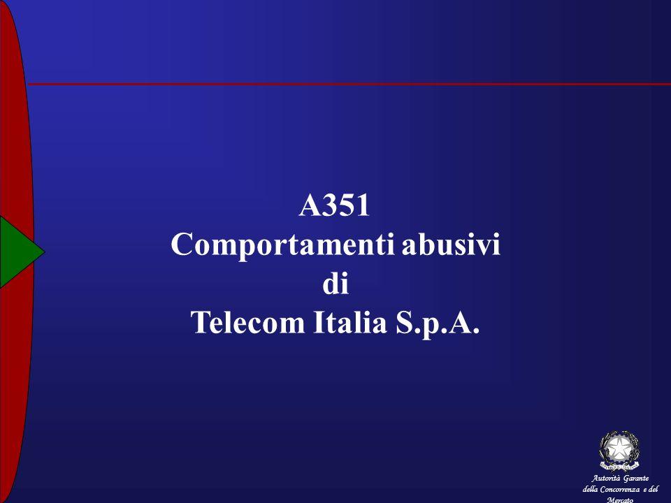 Autorità Garante della Concorrenza e del Mercato A351 Comportamenti abusivi di Telecom Italia S.p.A.
