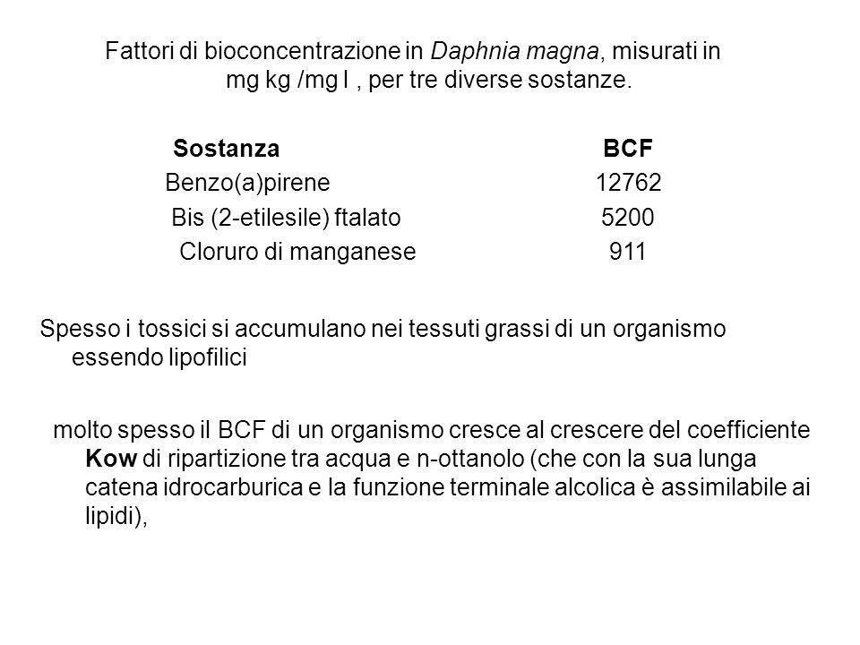 dott. Paolo Andreani - Elementi di ecologia e sicurezza ambientale LA BIOMAGNIFICAZIONE