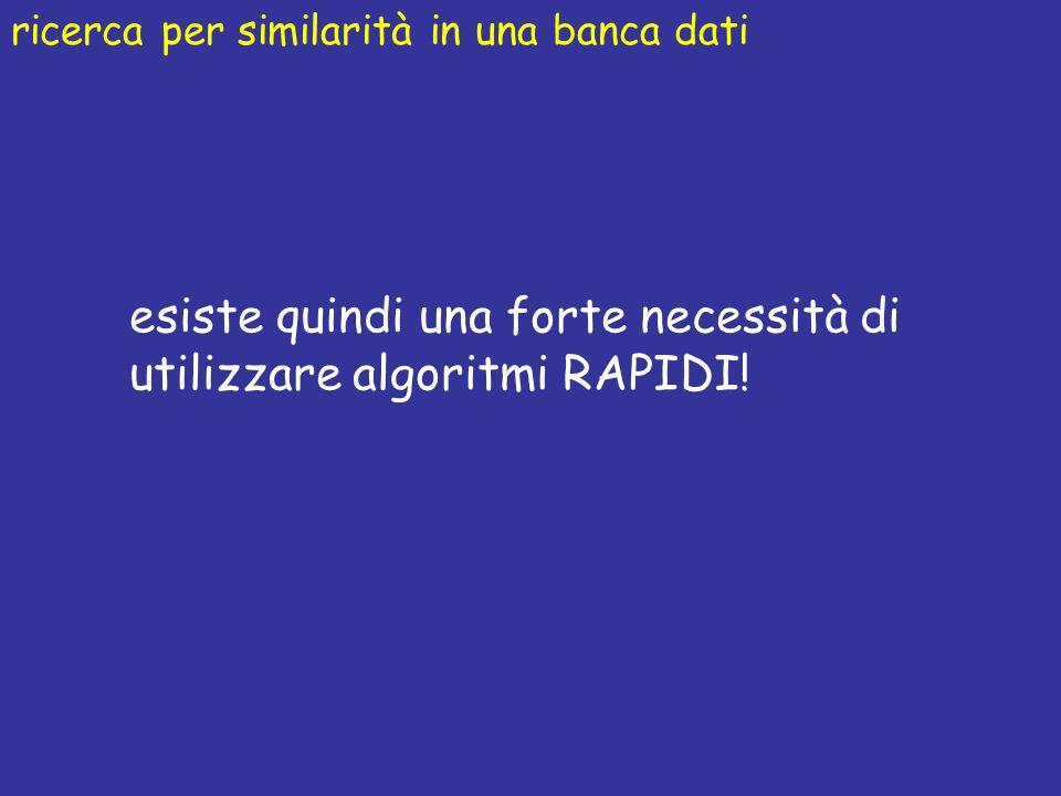 esiste quindi una forte necessità di utilizzare algoritmi RAPIDI!