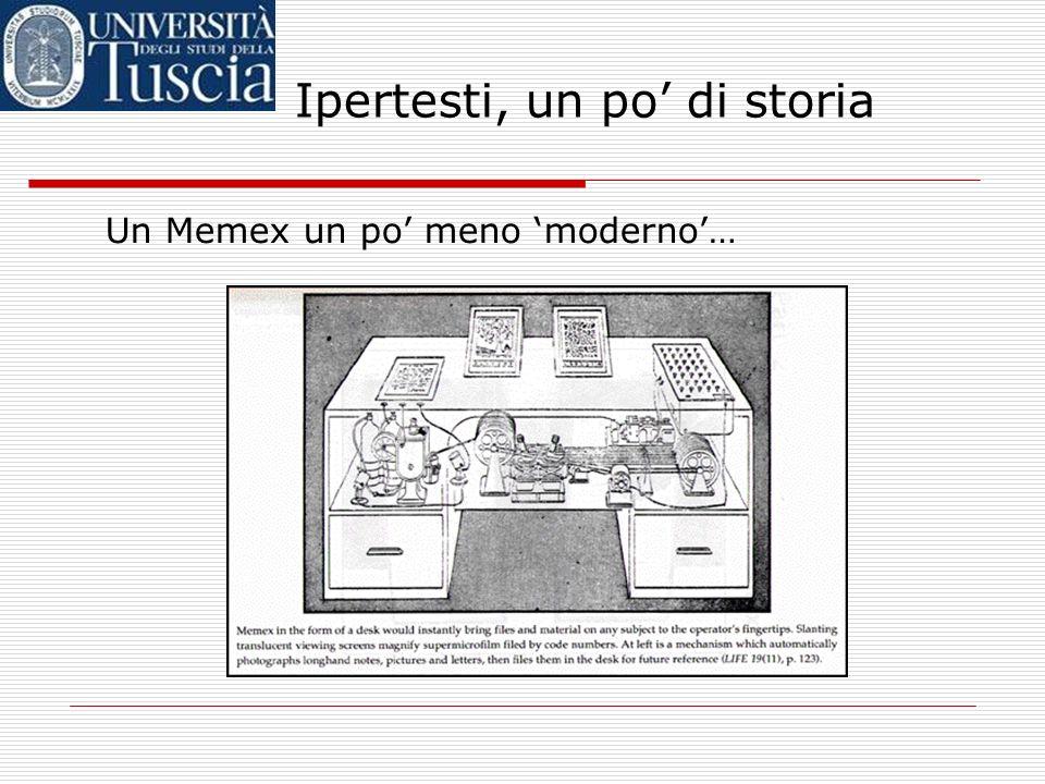 Ipertesti, un po di storia Ma… come doveva funzionare, in pratica, il Memex?