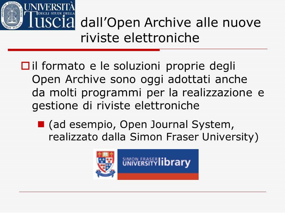 Open Archive: di cosa si tratta? Inoltre, un archivio aperto permette una descrizione puntuale, completa e standardizzata di tutti i materiali inserit