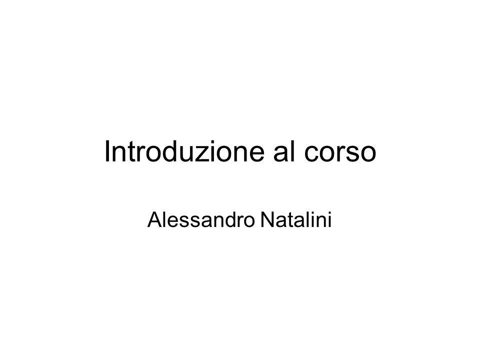 Introduzione al corso Alessandro Natalini