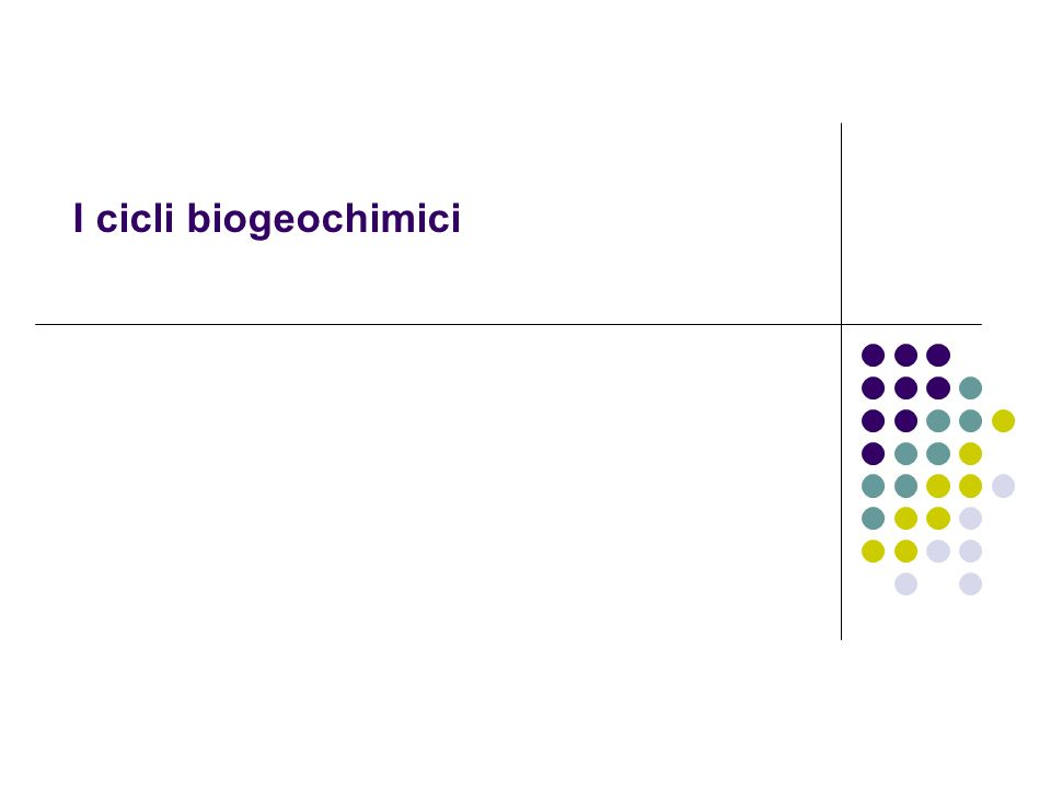 ciclo biogeochimico (o ciclo vitale) è il percorso seguito da un determinato elemento chimico all interno della biosfera.elemento chimicobiosfera organismi viventiorganismi viventi catena alimentarecatena alimentare organismi ambiente esterno biotico abioticobioticoabiotico pool di riserva pool di scambio