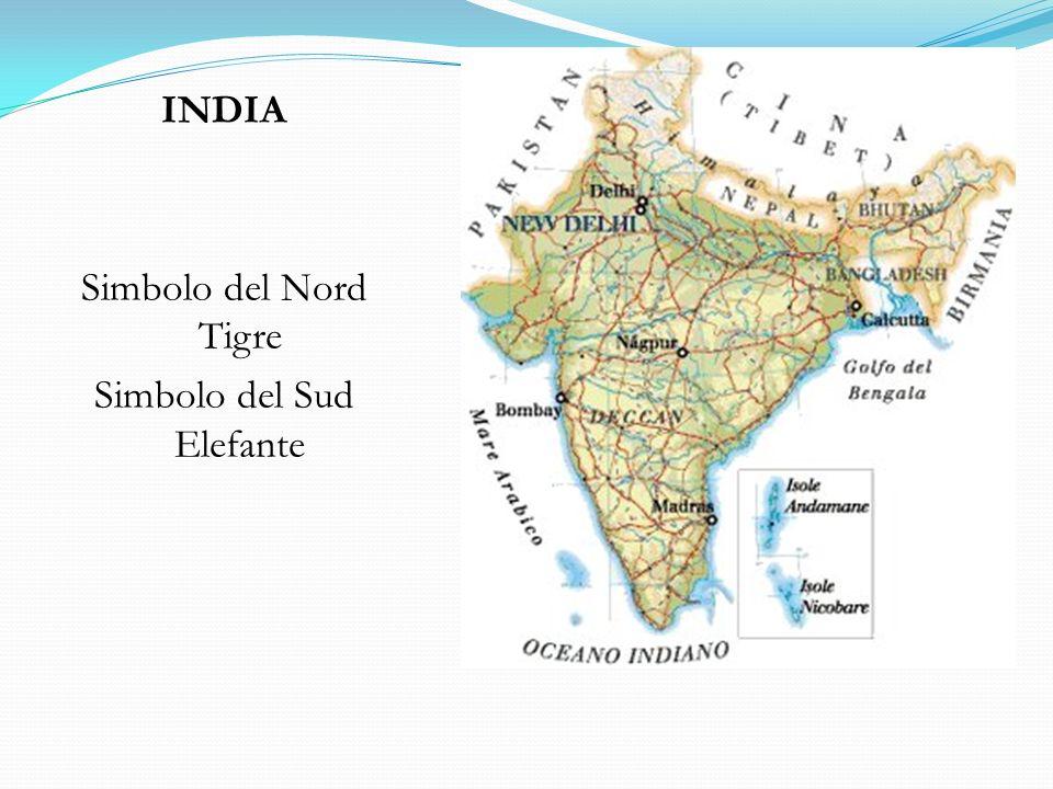 INDIA Simbolo del Nord Tigre Simbolo del Sud Elefante
