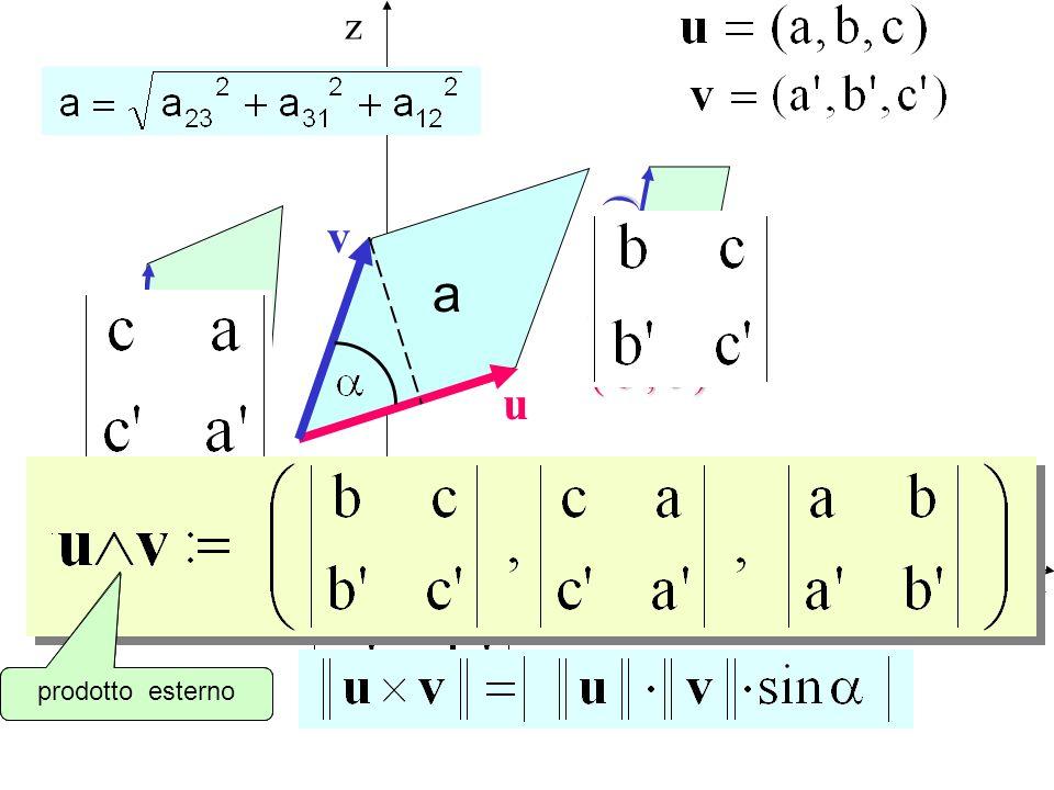 x y z a 12 a 23 a 31 a u v ( c, a ) ( a, b ) ( b, c ) ( a, b ) ( b, c ) prodotto vettoriale cross product prodotto esterno