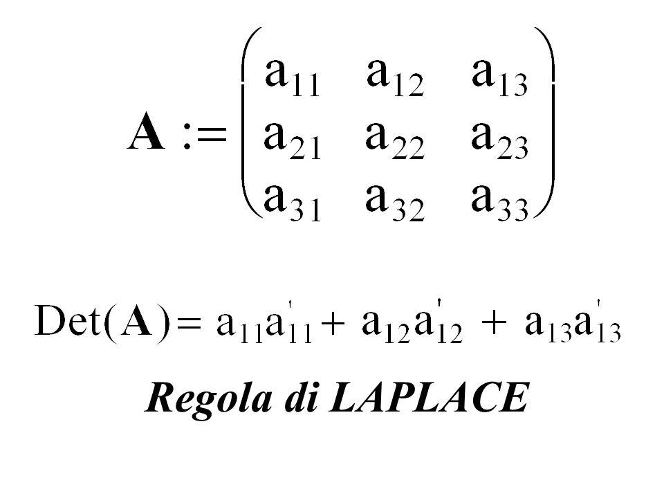 Regola di LAPLACE