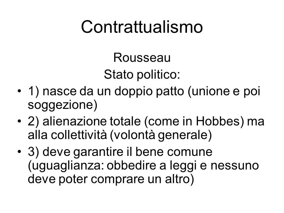 Contrattualismo Rousseau: che cosa rimane Tema delluguaglianza e della democrazia (sovranità popolare)