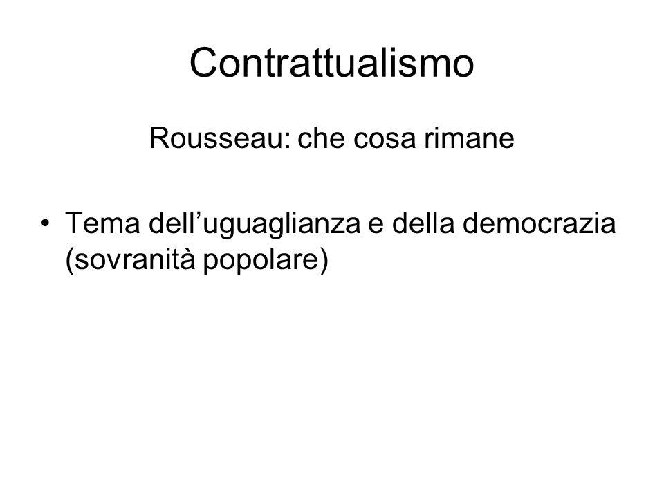 Contrattualismo Kant Stato di natura 1) insocievole socievolezza 2) stato di guerra 3) ma stato in qualche modo giuridico (contratti privati, basati sulla legge di natura) 4) dovere di passare a uno stato politico