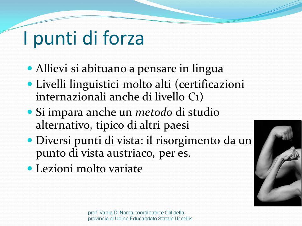 Le difficoltà I testi sono complessi Docenti stranieri vanno istruiti al modello educativo italiano e viceversa Classi di livelli differenti Inizialme